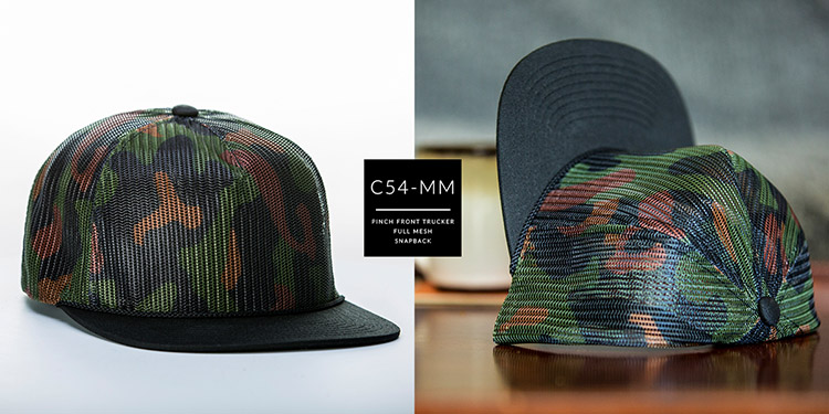 C54-MM // PINCH FRONT FULL MESH TRUCKER // CUSTOM SNAPBACK