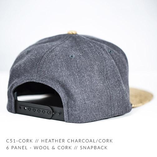 C51-CORK // HEATHER CHARCOAL / CORK BACK