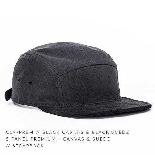 C19-PREM // BLACK CANVAS & BLACK SUEDE