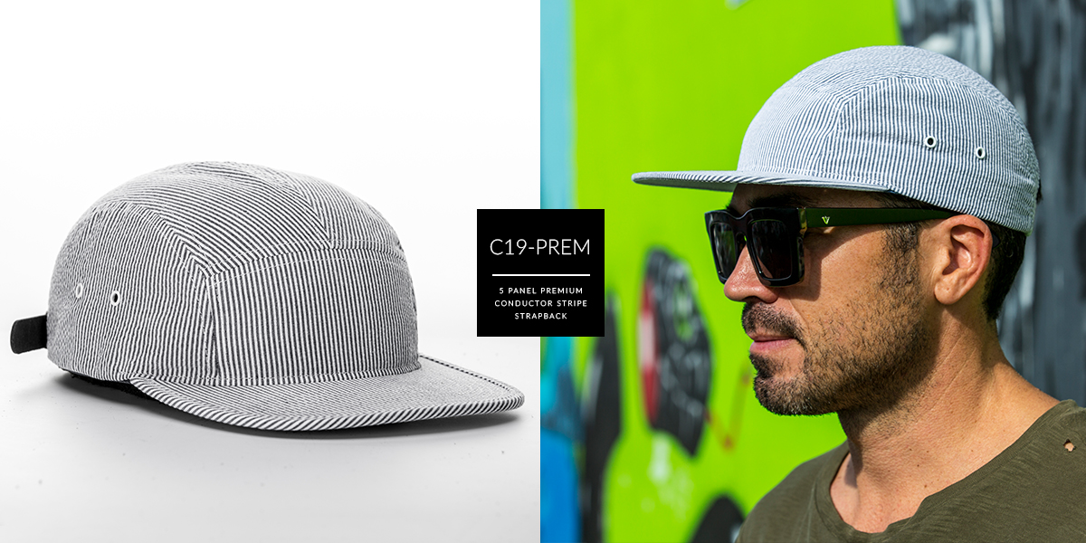 C19-PREM // Premium Custom 5 Panel - Assorted // Strapback