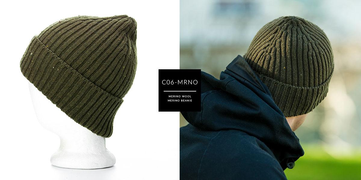 C06-MRNO // MERINO BEANIE - MERINO WOOL
