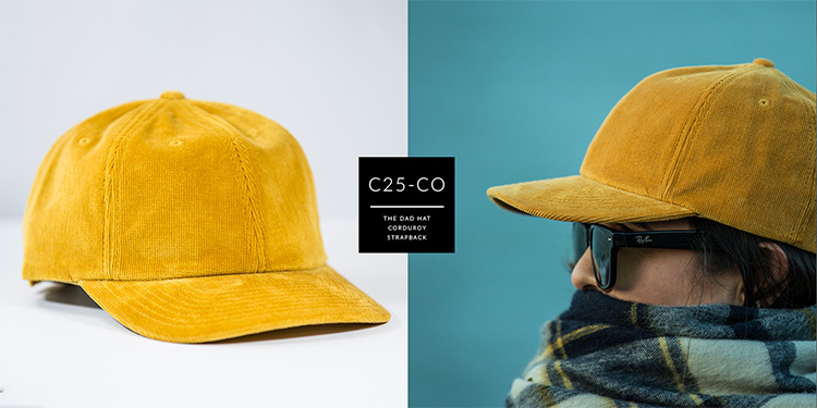 C25-CO // CORDUROY DAD HAT - CORDUROY // STRAPBACK