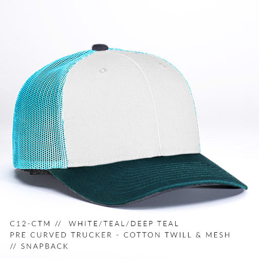 c12-CTM // White/Teal/Deep Teal
