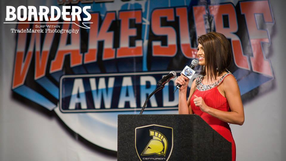 On Stage at the Wakesurf Awards