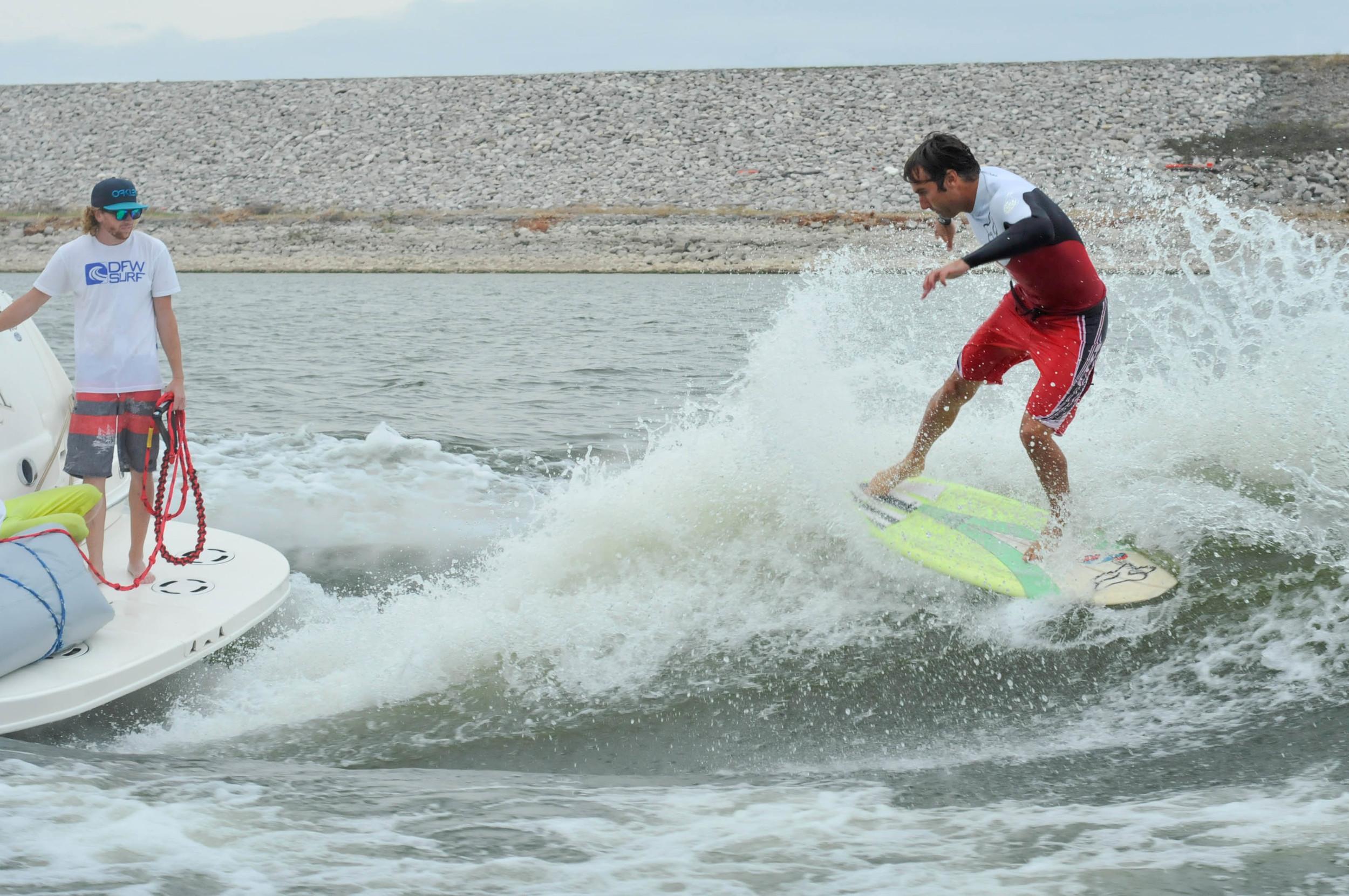 Josh Surfing at the 2013 Big Boat Invitational