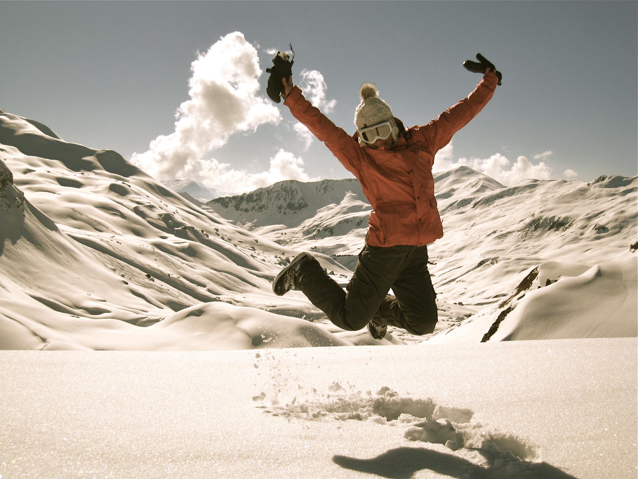 Korina Smyrek loving the winter months in the mountains of Switzerland.