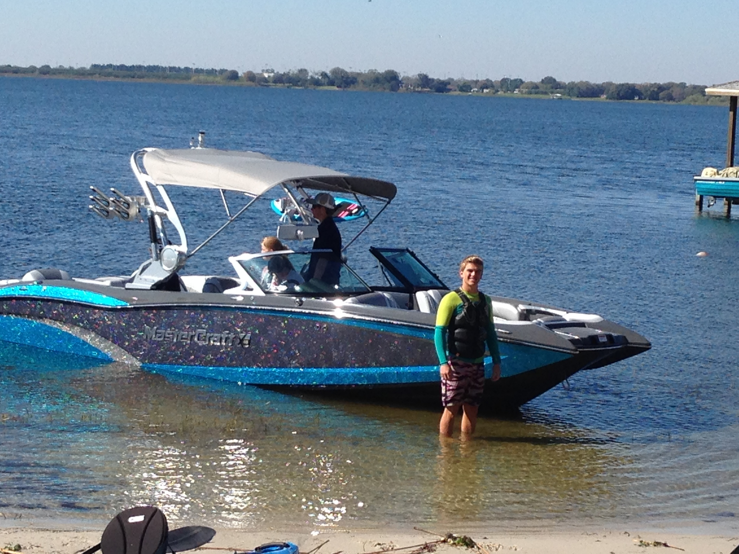 Hunter Sims with the MasterCraft X46