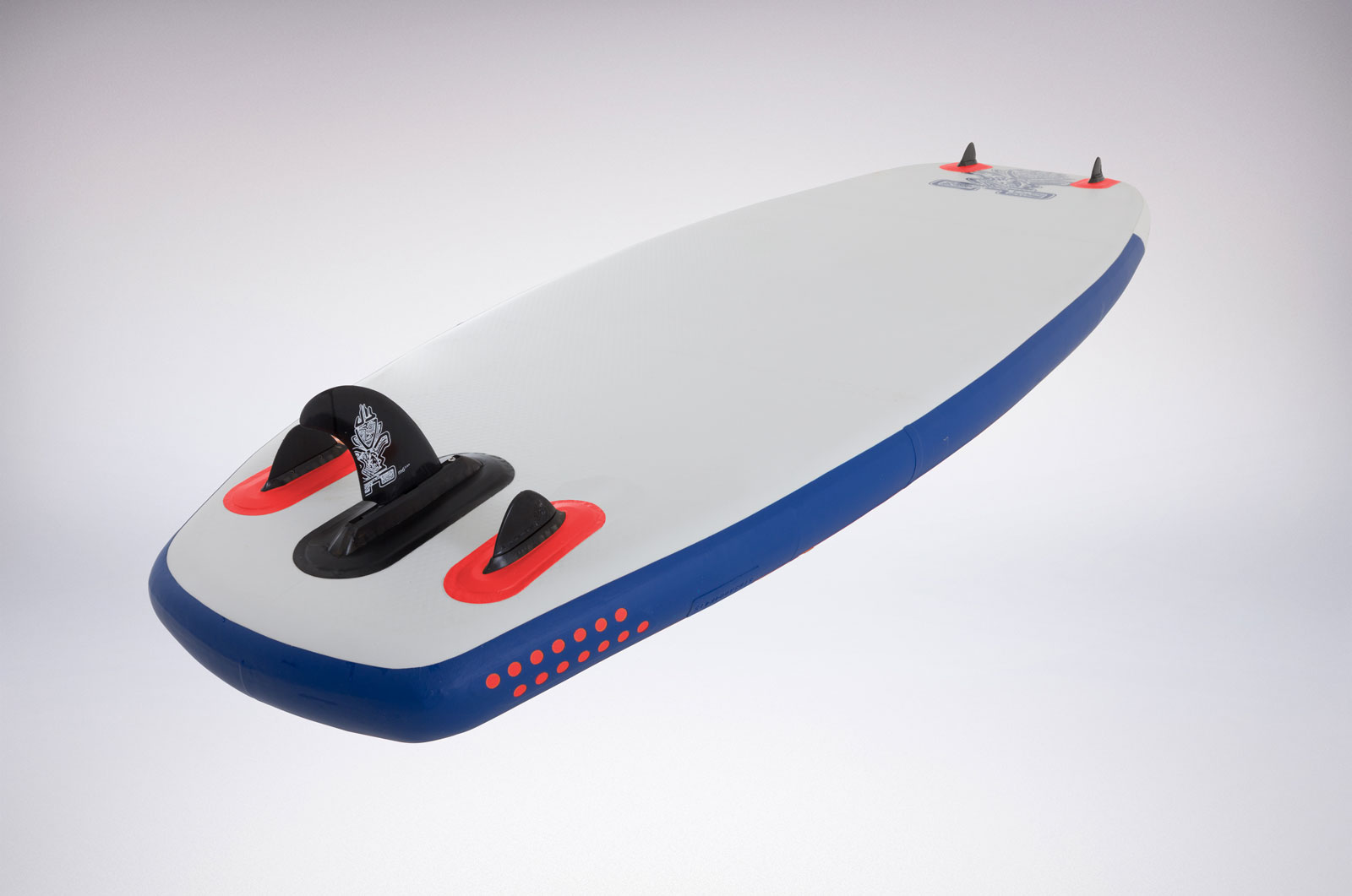 The new SUP Polo Astro Zen featuring a twin tip and two nose fins