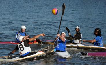 Canoe Polo or Kayak Polo. Photo Cred: Scot Goodman, usakayakpolo.com