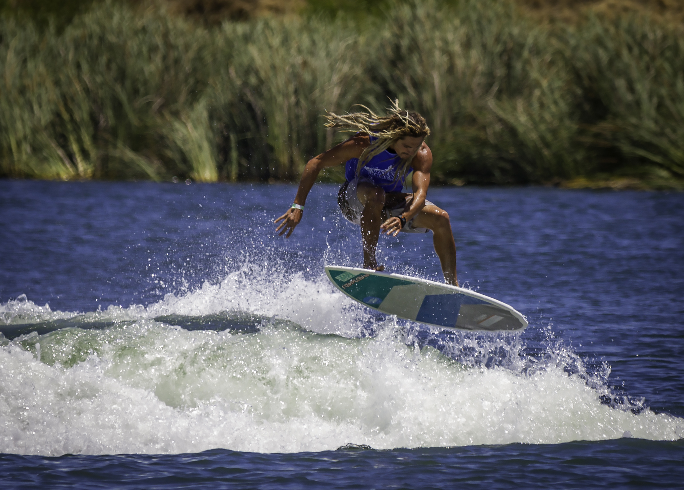 """""""Making His Mark."""" 2013 World Champion Ocean Skim Boarder Austin Keen is making his mark behind a boat now. Austin has awesome style and is a great guy around the site. Austin even had a wakesurf video on The Ellen Show recently. Austin took 2nd in Pro Skim."""