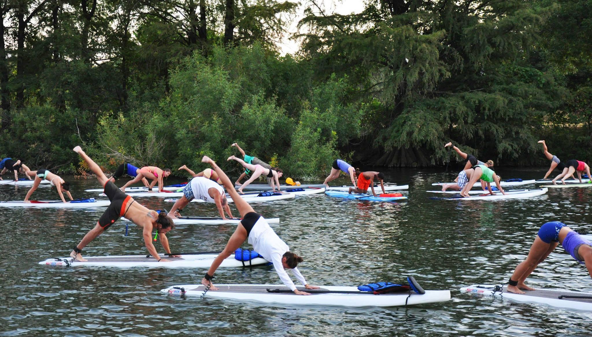 SUPATX SUP Yoga World Record
