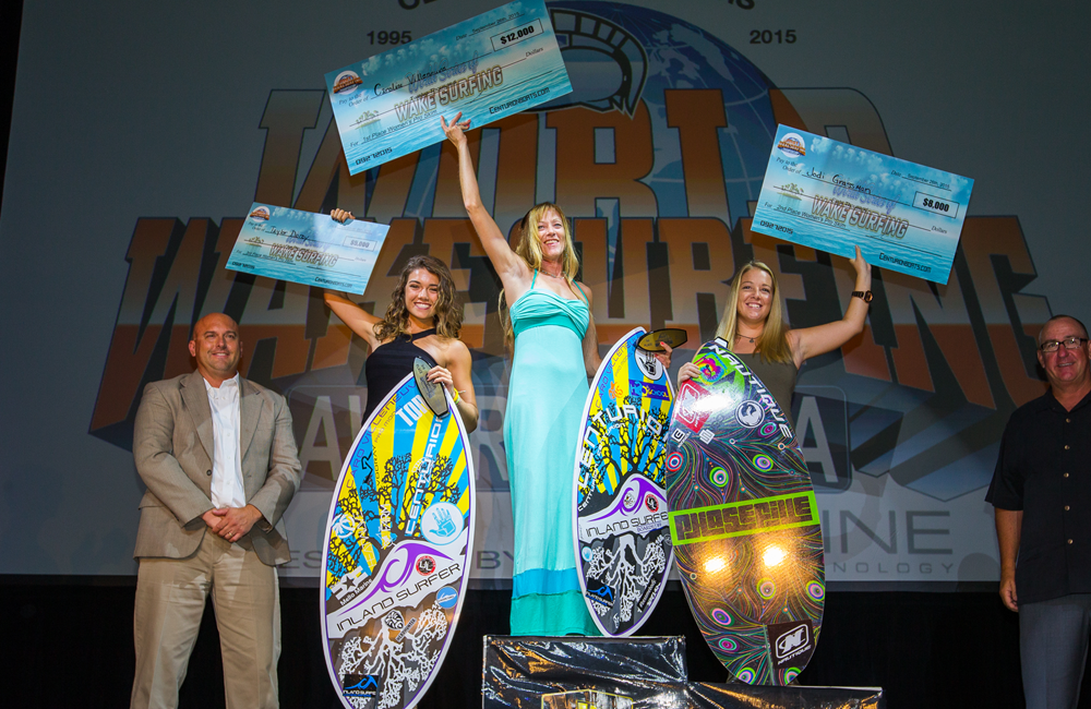 On top of the World!  Caro wins 2015 World Wake Surfing Championship!  Photo- Mark Payne