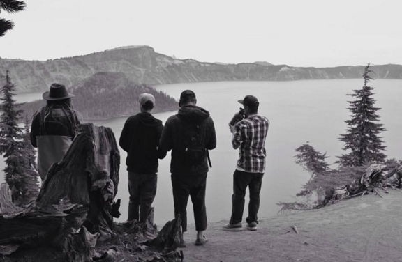""""""" Although I enjoy traveling by myself, it gets tough not being able to share beauty and experiences with others. I'm taking full advantage of that this time around. Crater lake, Oregon last weekend with friends."""" -Dylan"""