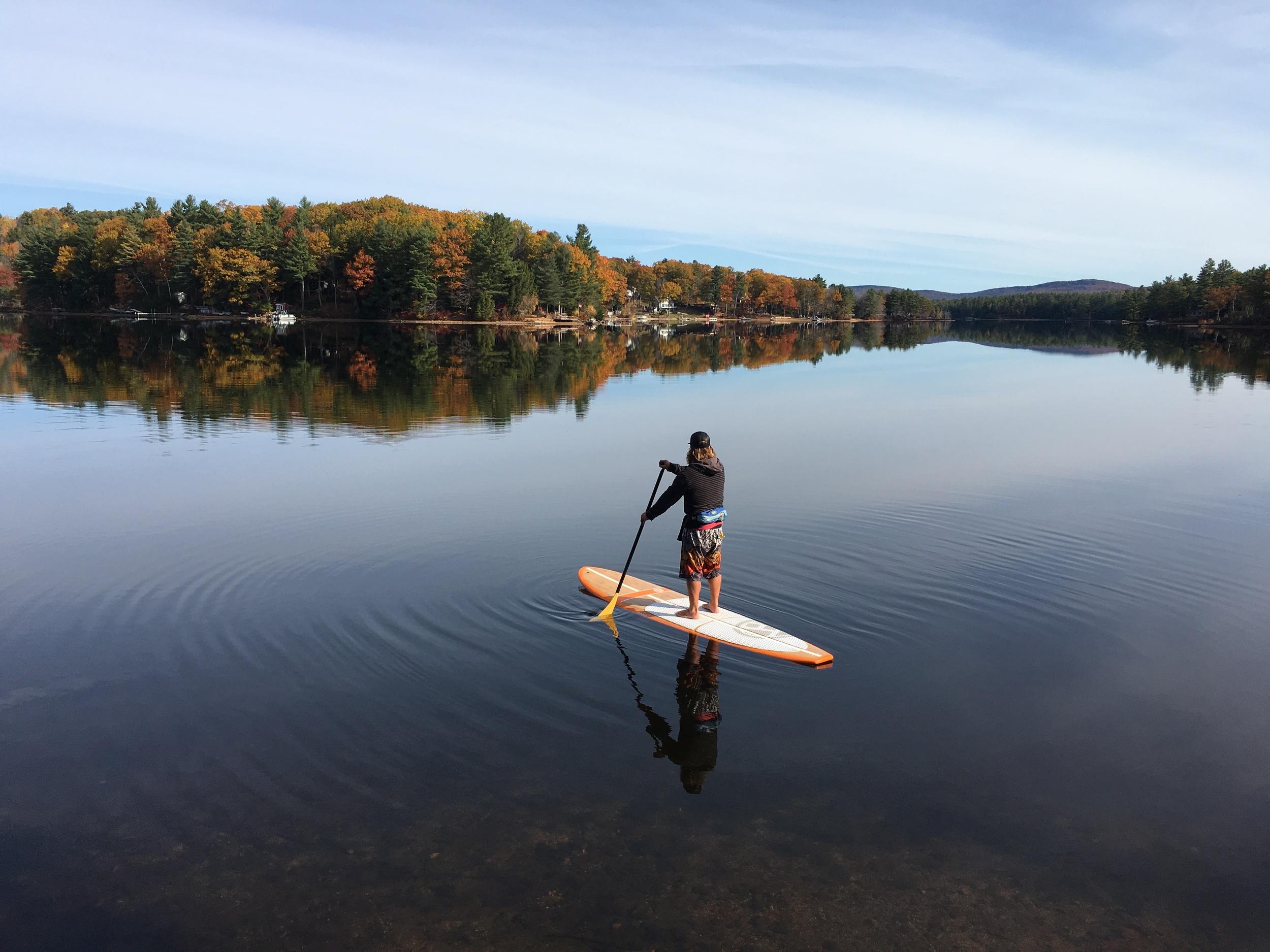 "Jeramie Vaine- Fall Paddleboarding ""Sanctuary"""