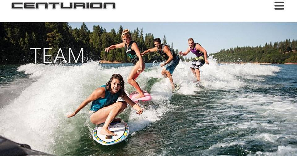 Photo Courtesy of Centurion Boats | Boarders: (front to back) Taylor Dorey, Ashley Kidd, Sean Cummings, Zane Montgomery