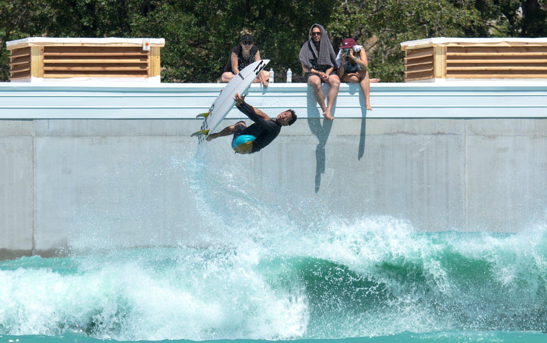 "BSR Surf Park aka ""The Waco Wave"" aka BSR Surf Resort aka The Best Surf Park Wave Yet?! Surfer: Seth Moniz, Photo courtesy of  Rob Henson Surf Shots"