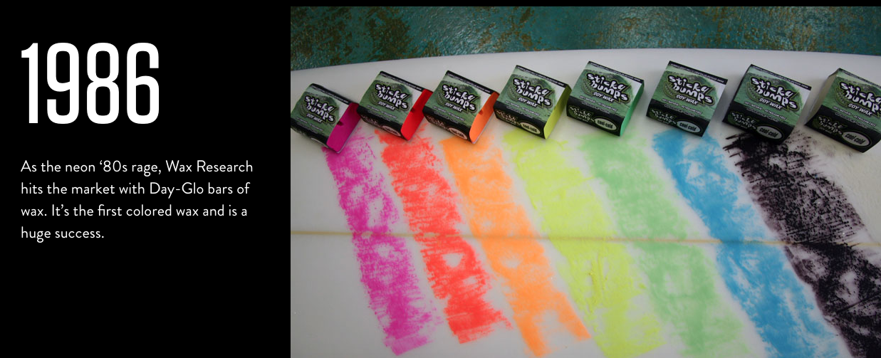 In 1986 wax became colorful
