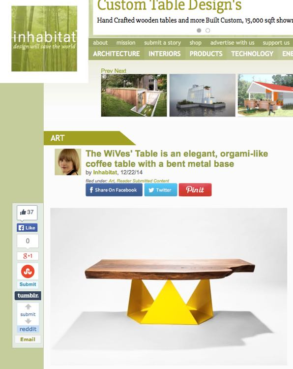 One of the coolest green living blogs around, Inhabitat, wrote a sweet little feature on the WiVes'!