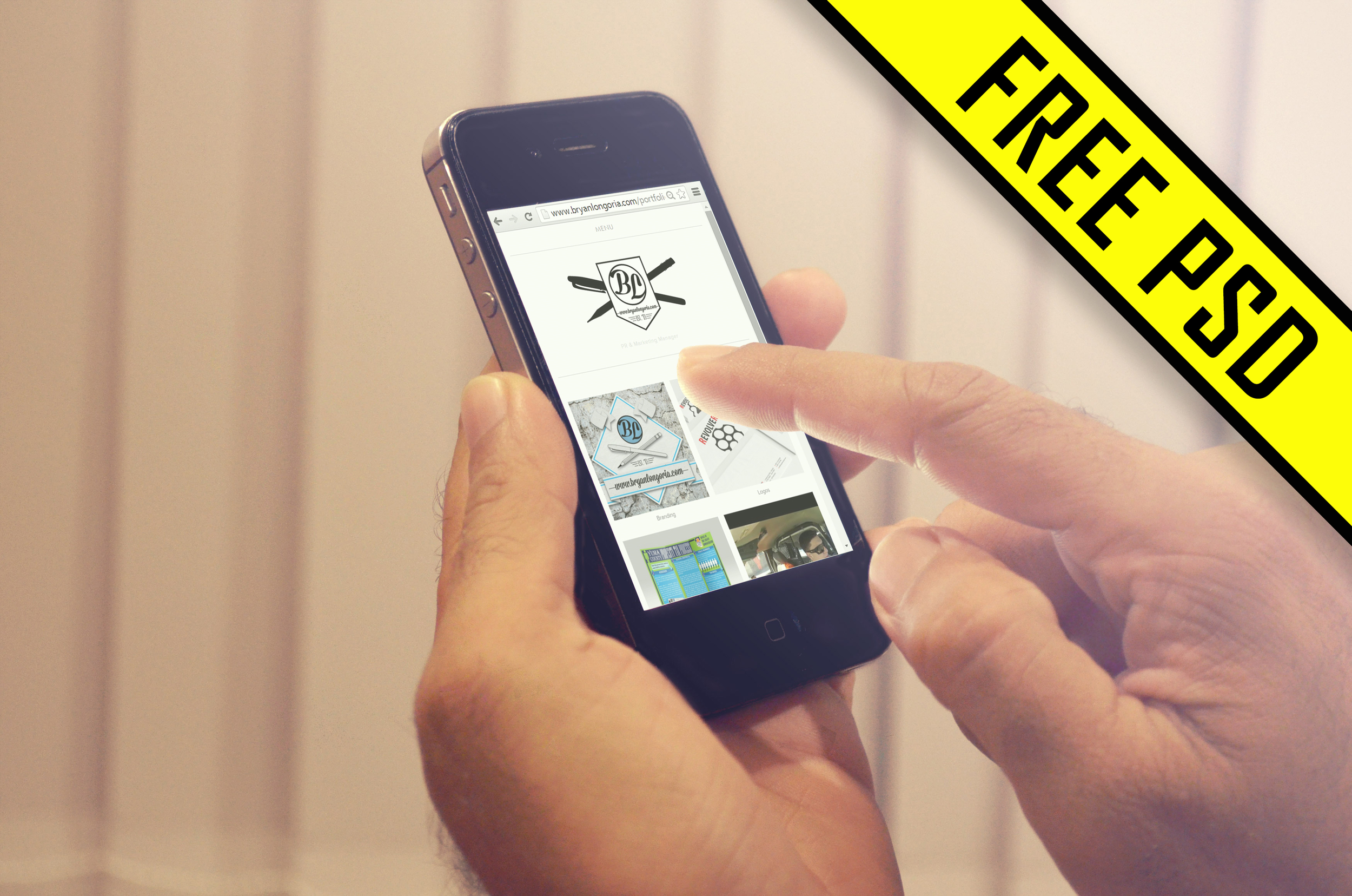 Free iPhone 5 PSD Mockup