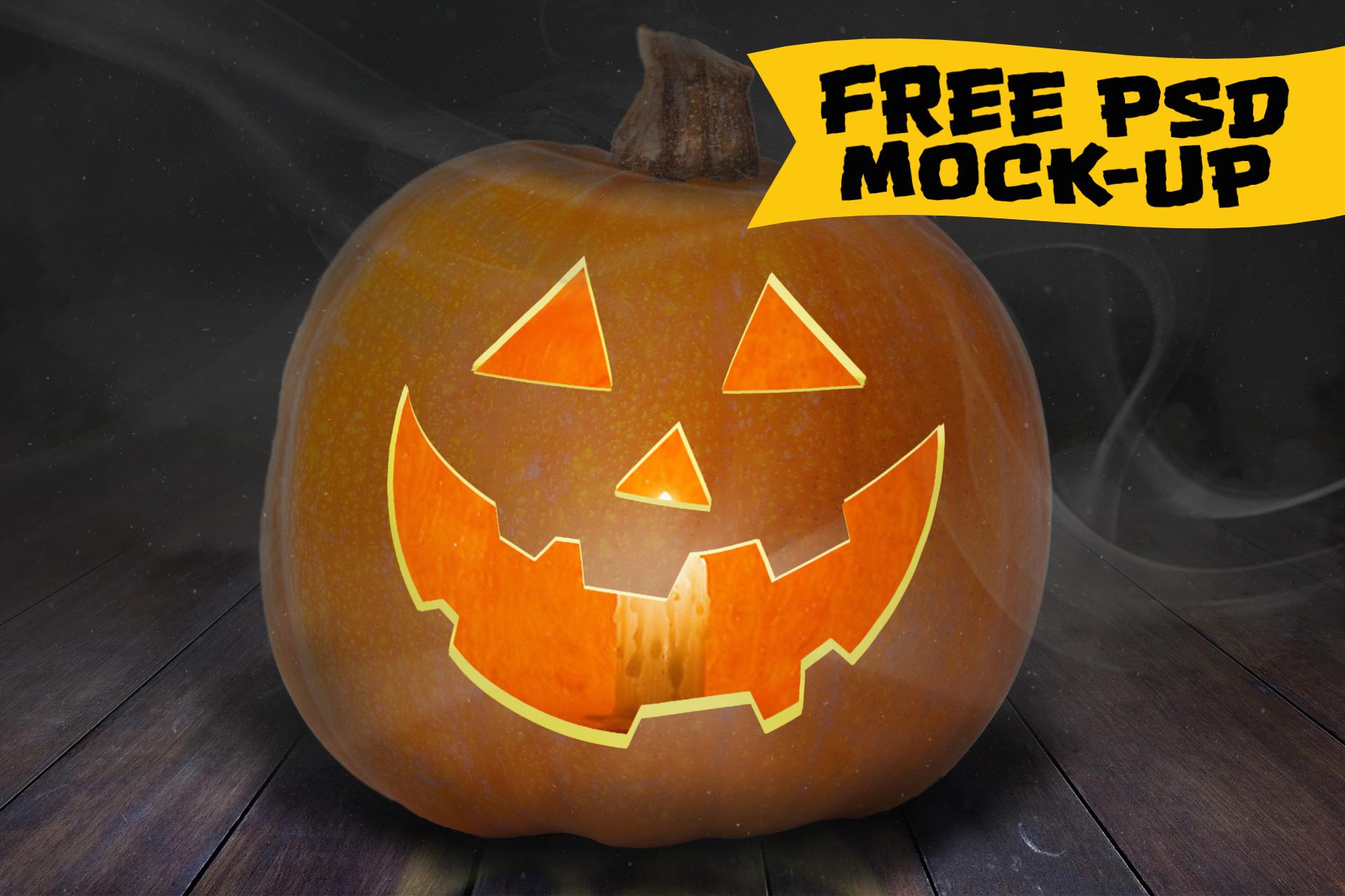 Free Jack-O-Lantern Mockup