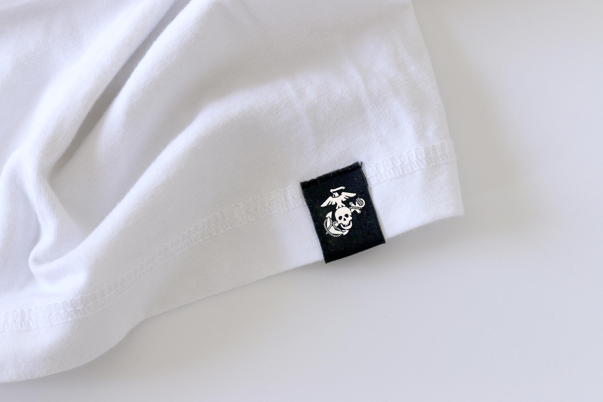 USMC Eagle Skull and Anchor Tag on Marine Shirt