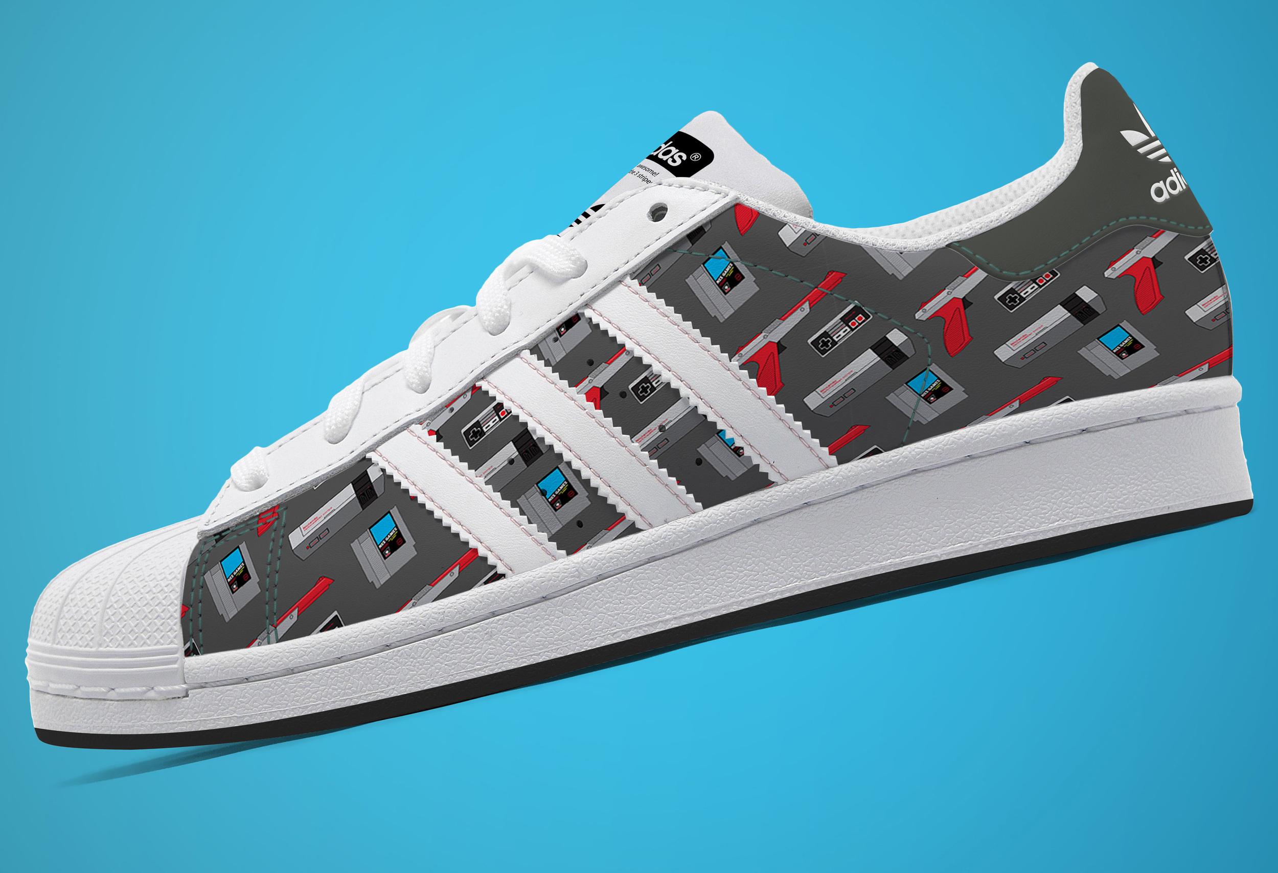 Adidas Nintendo NES Shoe Concept Mockup