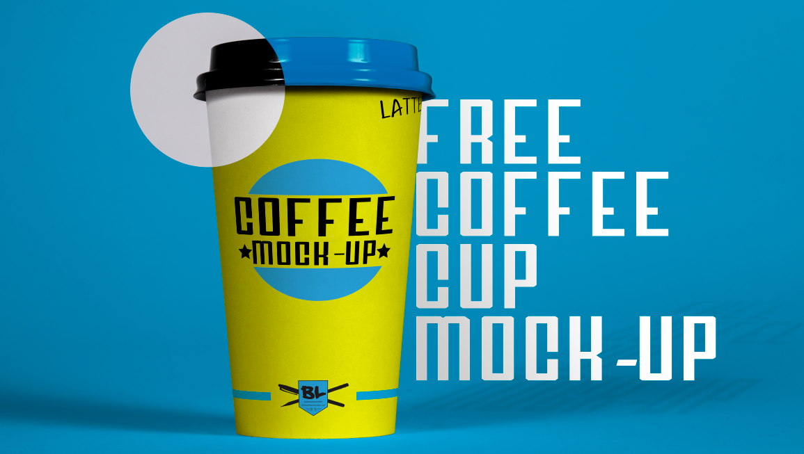Free Coffee Cup Mockup Header
