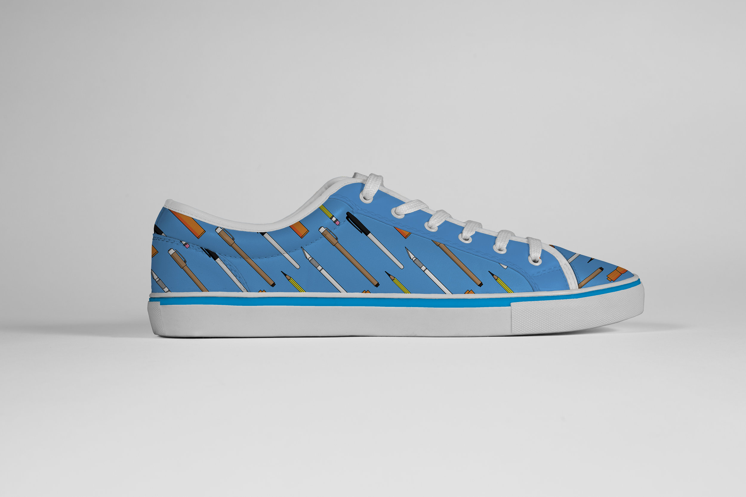 Pens Pattern Vans Shoe Design