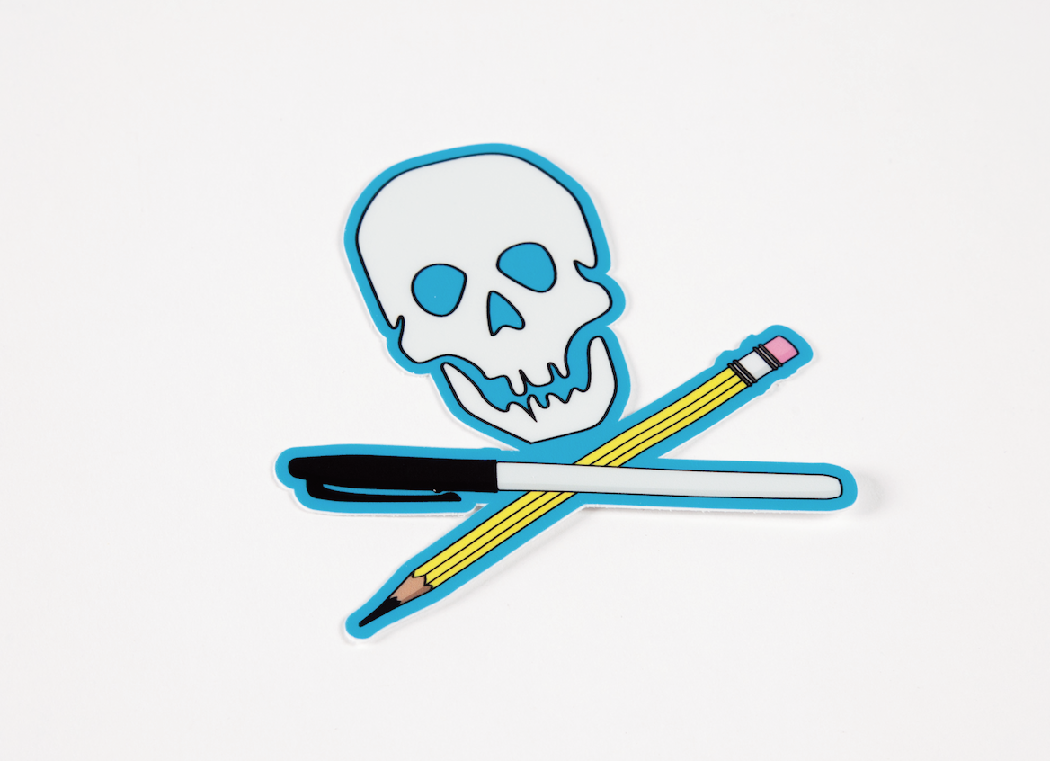 skull and cross pens
