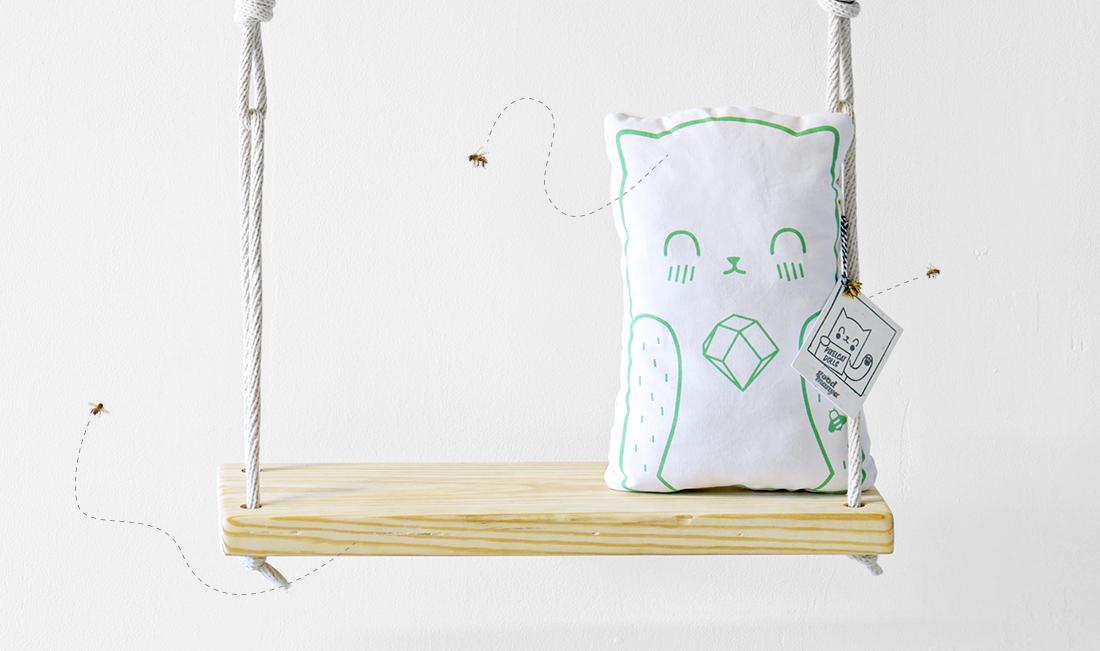 Pixelcat Doll pillow