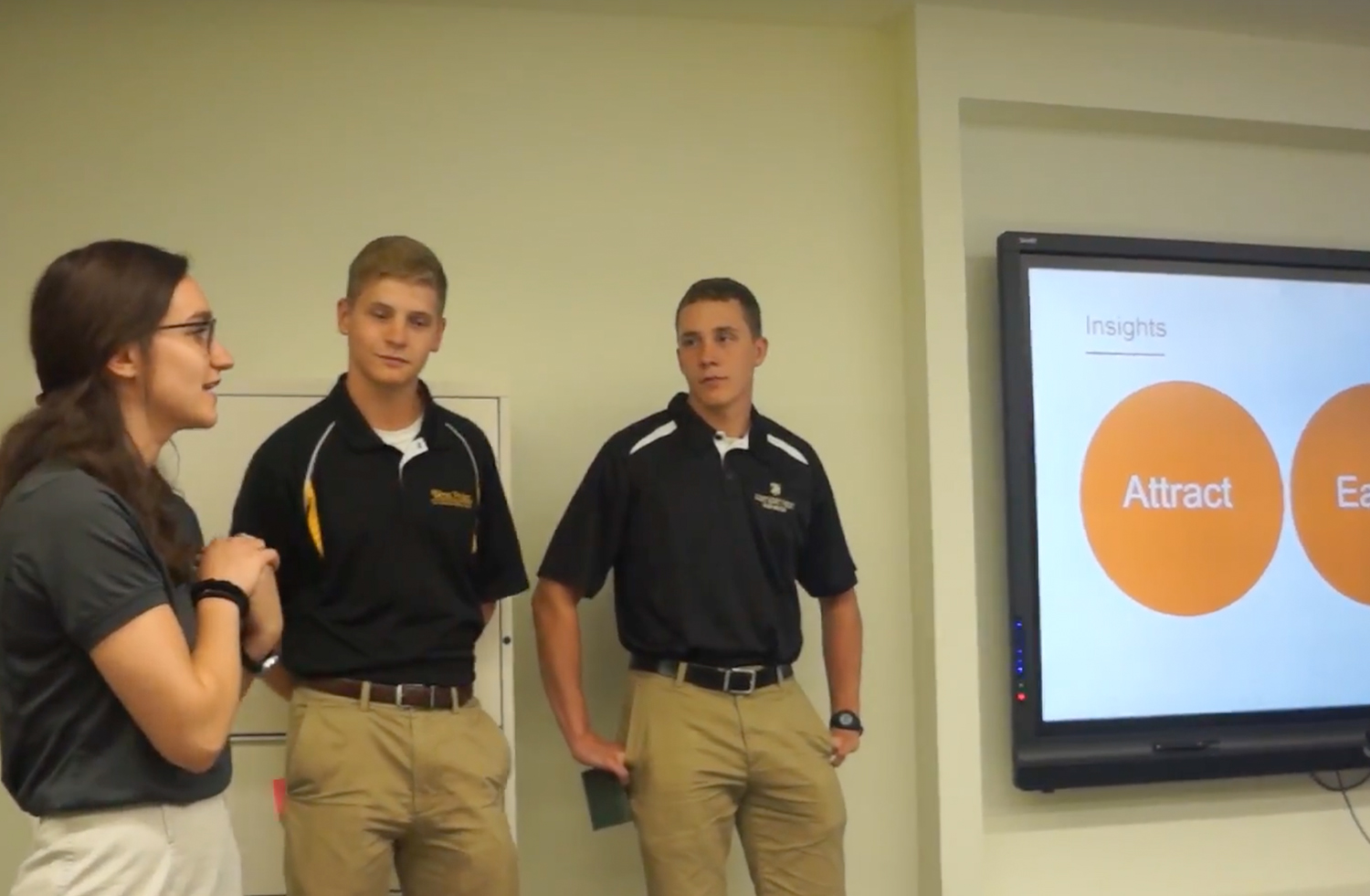 West Point cadets presenting their recommendations to DVS