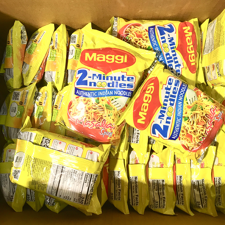 Instant ramen noodle brand Maggi- sold in India