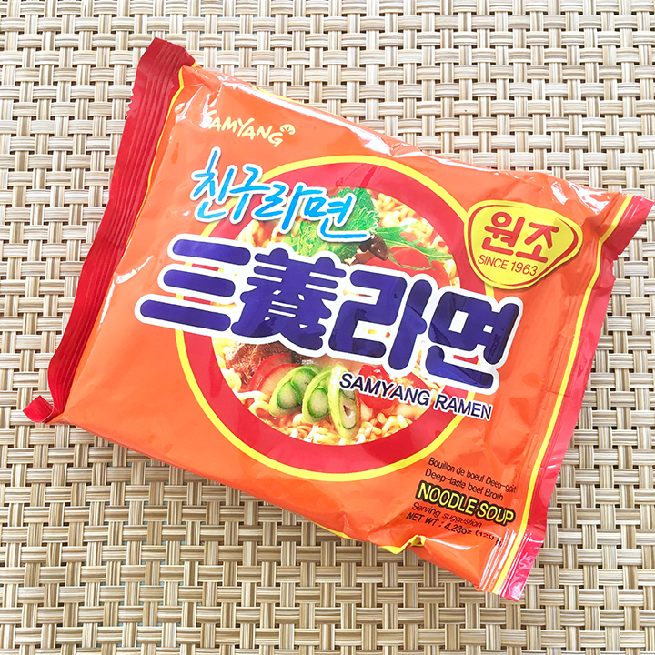 Instant ramen noodle brand Samyang made in Korea