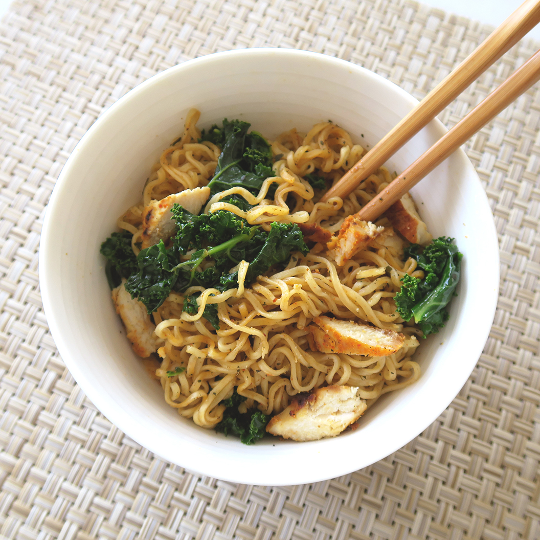 masala instant noodle recipe with grilled chicken