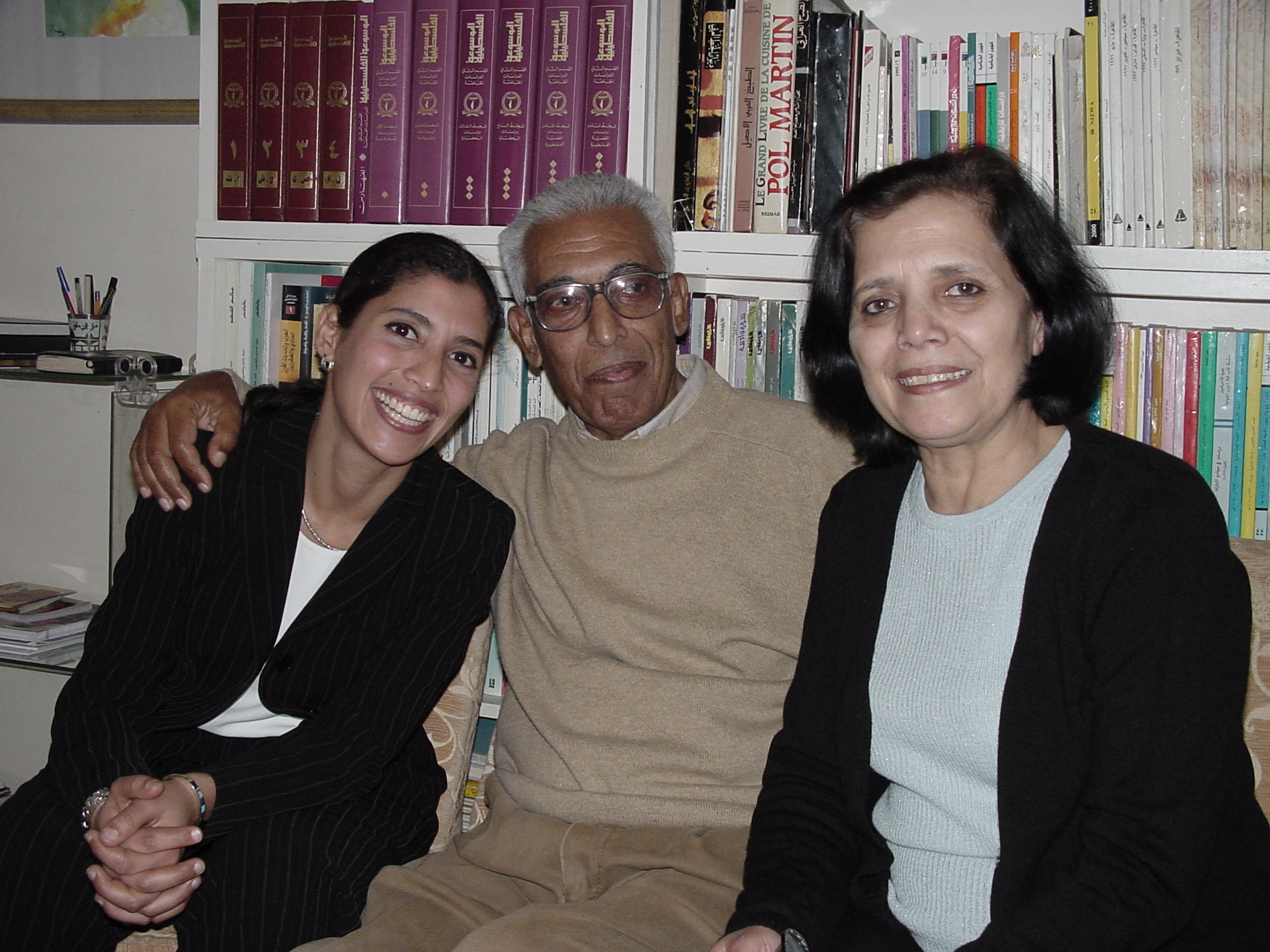 Laila, her father Abdul Rahman Munif and her mother Souad.