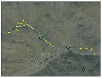 Fig. 3: Parte centrar el Cañón Homewood agua debajo de la mina Ruth.