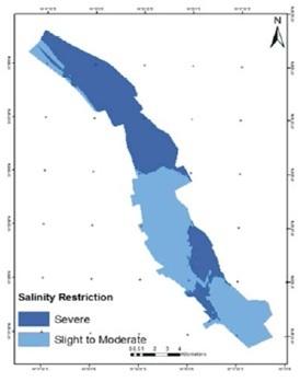 Fig.1: Mapa de salinidad del agua subterránea [2].
