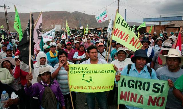 Los conflictos sociales son cada vez mas relevante en la factibilidad de proyectos mineros
