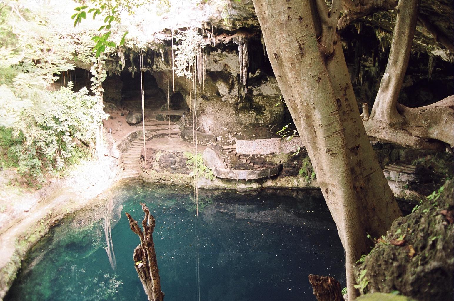 Cenote Zaci, Valladolid, Q. Roo, Mexico. Fuente: Wikipedia