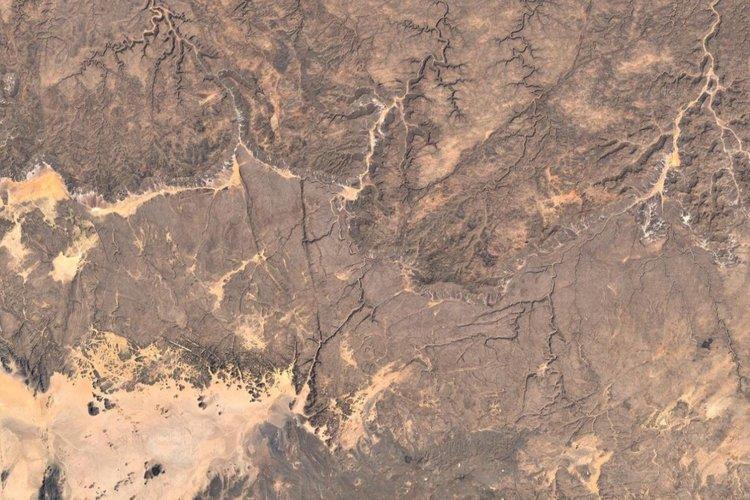 Vista aérea de Tassili n'Ajjer