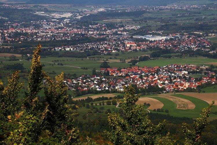 Desarrollo urbano sobre un acuífero kárstico, Albstadt, Alemania.