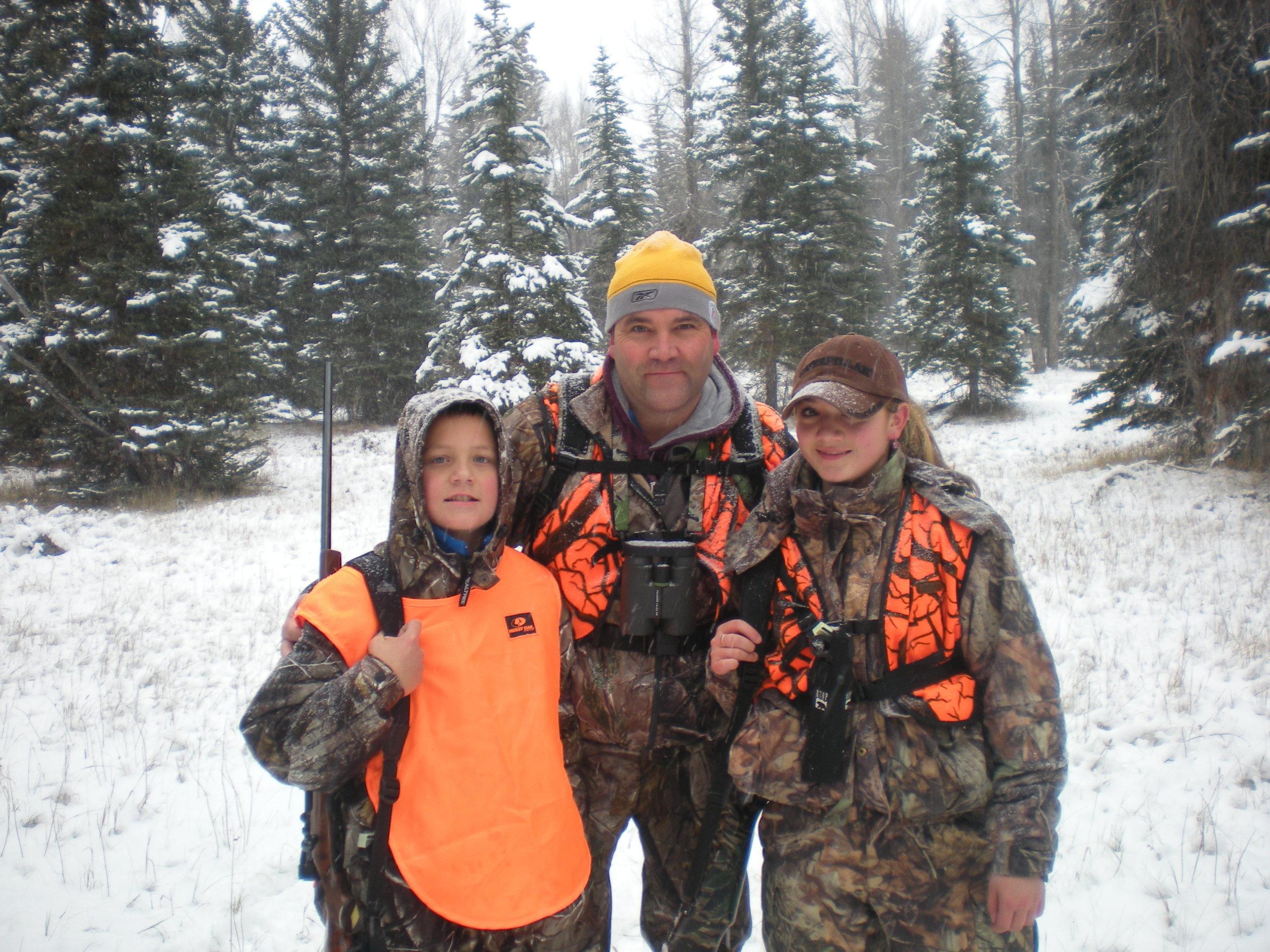 Jerry, Taylor, & Jordan Kelly enjoying healthy forests