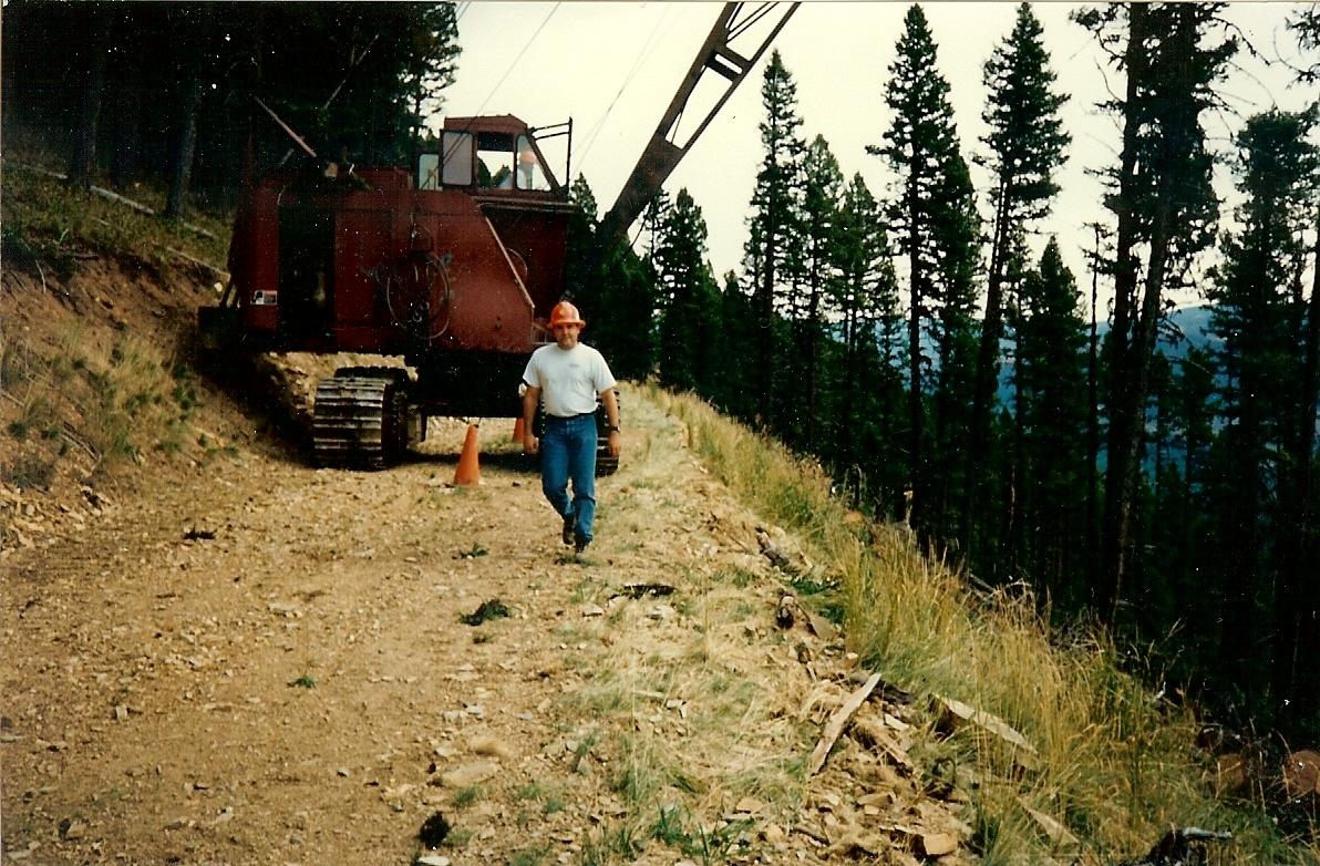Randy Drollinger & Jerry Kelly 98 Linkbelt in Montana