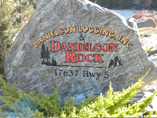 Rock out in front of the Danielson Logging, Inc. shop