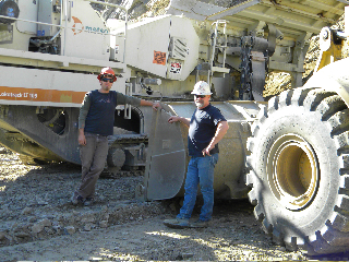 Rock Crusher crew Rich Roy and Rick Shelden