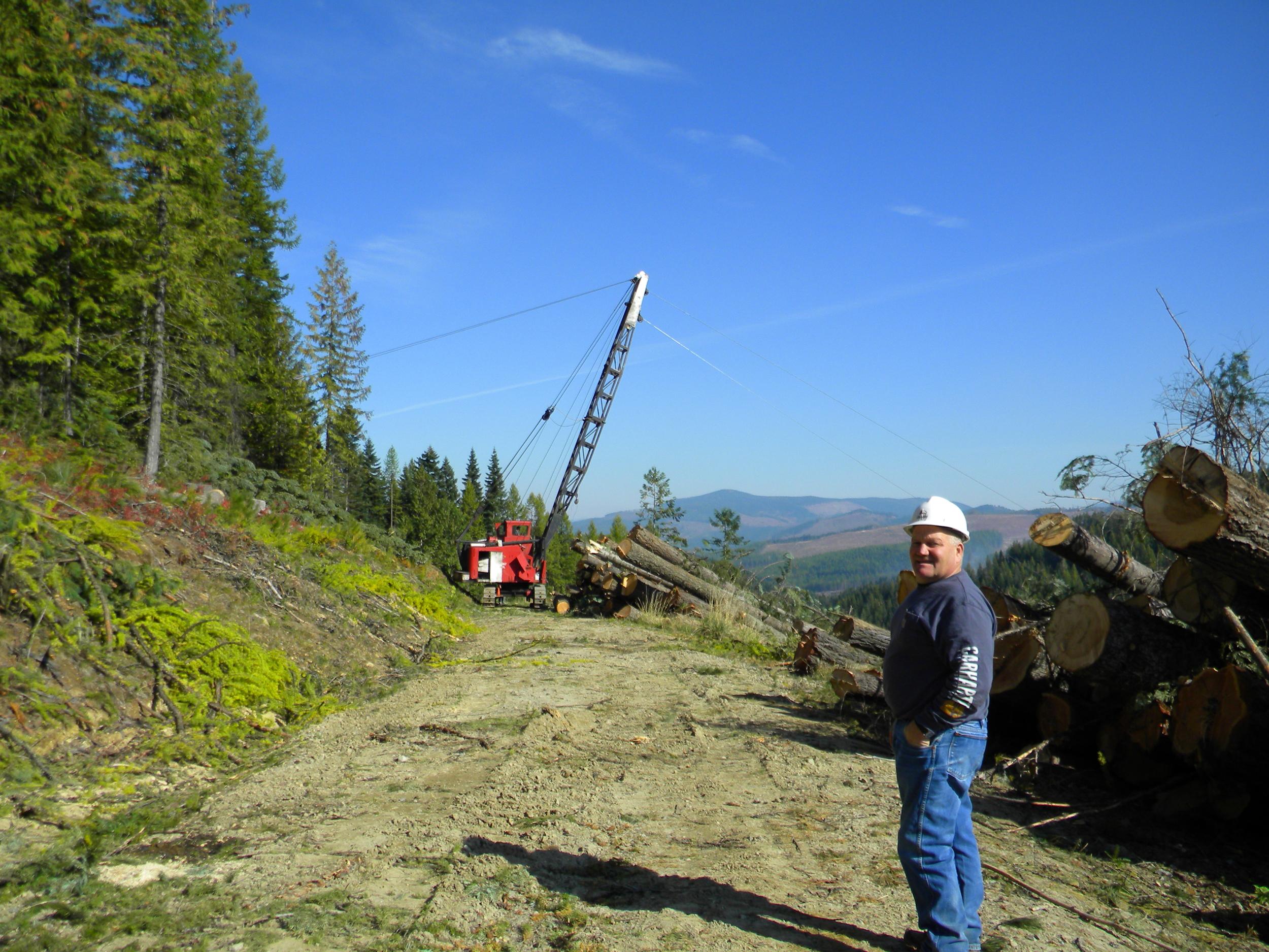 Bob Danielson and Linkbelt Line Machine