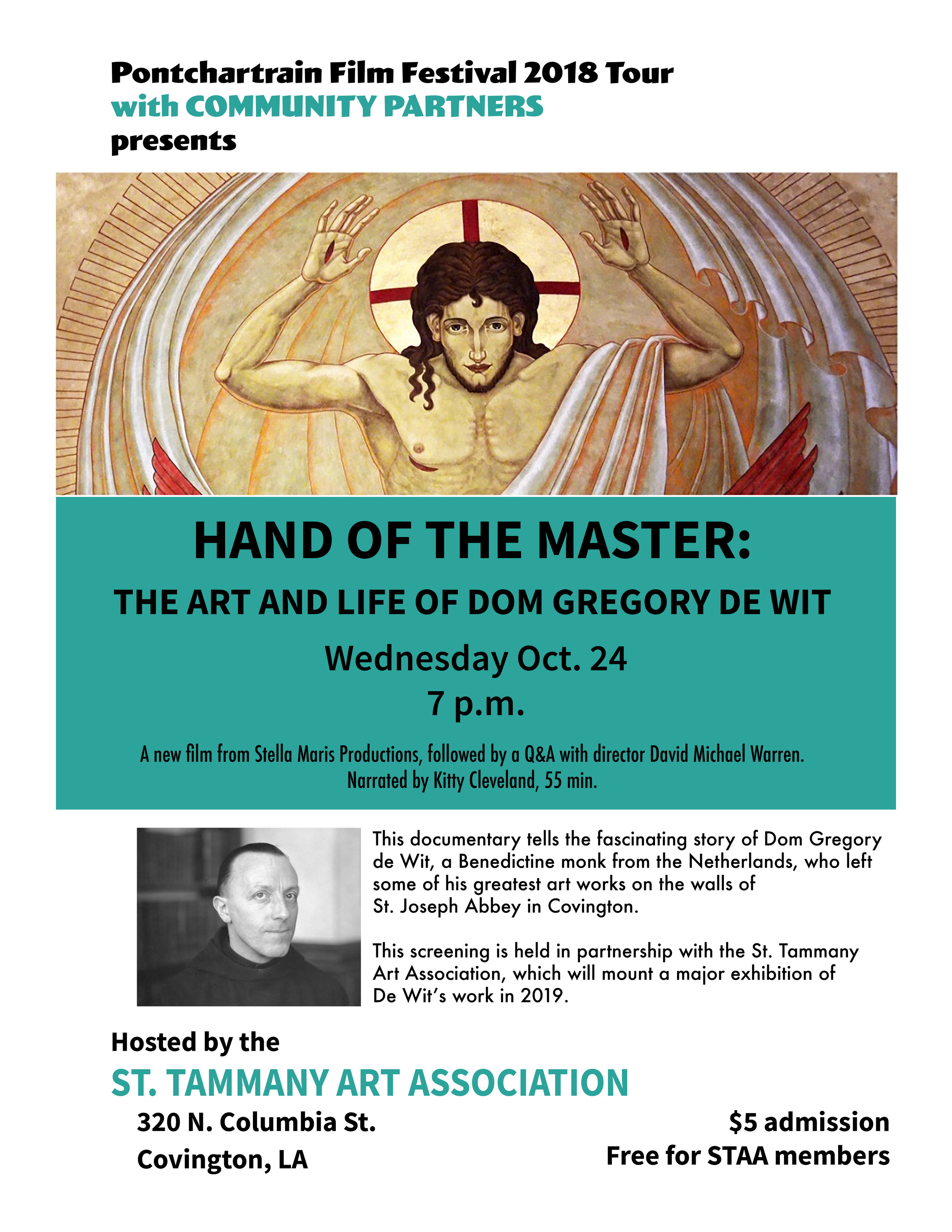 Hand of the Master Pontchartrain Film Fest 2018 Tour
