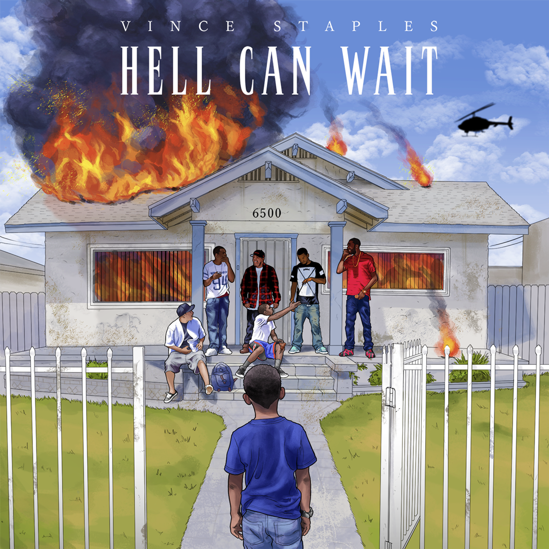 """Vince Staples // Hell Can Wait   In his debut EP,  Hell Can Wait , rapper Vince Staples ambitiously covers a range of topics–gang violence, police brutality, and love,to name a few. """"Blue Suede"""" carries a heartbreaking desire to """"outlive them red roses"""" and escape the bloodshed around him, while acknowledging his youth with a simple wish for new Jordans. Though he insists it's not about Ferguson, the powerful narrative of police violence in """"Hands Up"""" feels desperately relevant to recent events: """"They expect respect and nonviolence/I refuse the right to be silent.""""  Listen:  """"Blue Suede"""""""