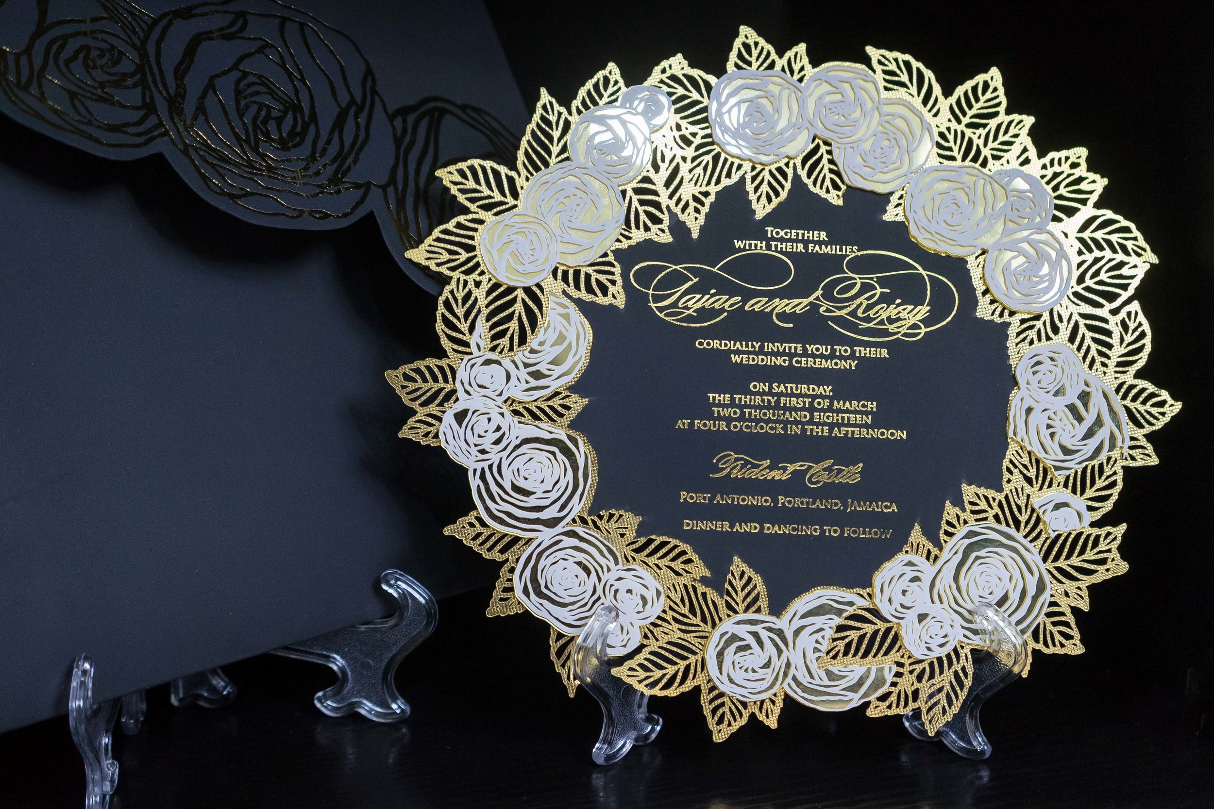 Beautiful Invite for a 2018 Bride Displayed at our Lagos Showroom