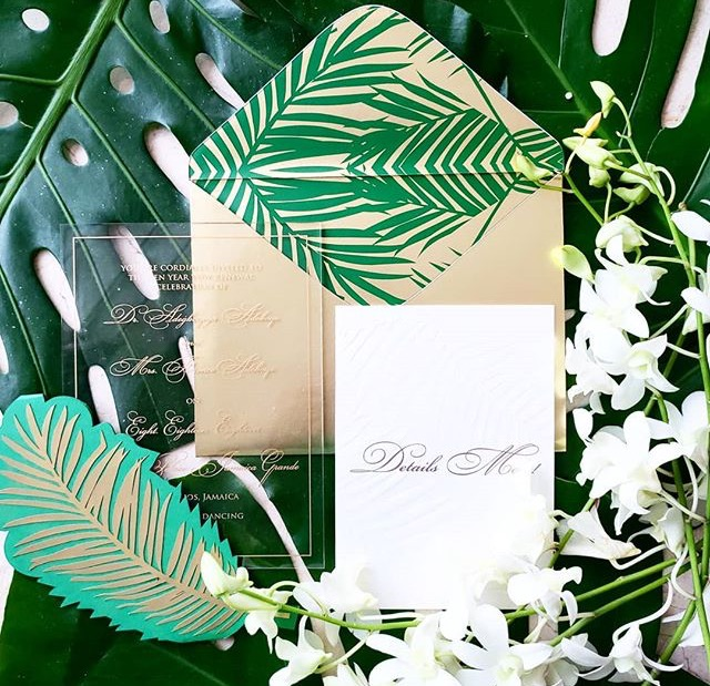 "Green ""Palm leaf"" Inspired Suite"